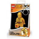 Mini torcia a LED LEGO Star Wars con portachiavi