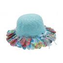 ingrosso Cappelli: cappello ragazza  colorata estate Kinderhut