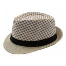 groothandel Kleding & Fashion: Fine Karrierter  Straw Hat Summer Herren Fedora