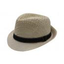 wholesale Headgear: Braid pattern  summer straw hat men Fedora