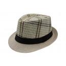 wholesale Headgear: Double-checked  summer straw hat men Fedora