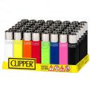 Großhandel Feuerzeuge: Clipper Feuerzeug Solid Branded 48er Display