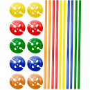 wholesale Gifts & Stationery: Multicolour Ballon Sticks with Holders - 10 pieces