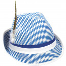 groothandel Speelgoed: Tiroler Hoed Blauw-Wit Oktoberfest