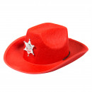 wholesale Headgear:Red Cowboy Hat with LED