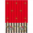groothandel Tafellinnen: Rode Piraat piraten tafelkleed - 120x180 cm