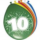 Großhandel Geschenkartikel & Papeterie: 10 Jahre Balloons - 8 Teile