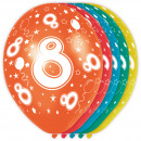 Großhandel Geschenkartikel & Papeterie: 8 Jahre Geburtstag Ballons 5 pieces