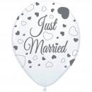 Just Married Esküvő Lufi - 8 db