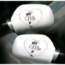 groothandel Woondecoratie: Autospiegelhoezen Bruiloft Mr - Mrs