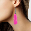 wholesale Jewelry & Watches: Earrings fringe neon pink