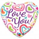 Großhandel Sonstige: 18V Ich liebe dich, verschwommene Herzen
