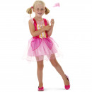 Princess Dress Girl Pink Summer - Storlek M - 116-