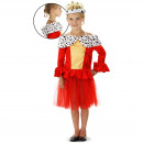 Red Queen Dress with Fur Collar Girls Size M