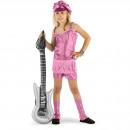 Rocker Girl Suit Pink 3-delade tjejer - storlek M