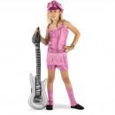 Rocker Girl Suit Pink 3-delade tjejer - storlek L
