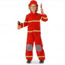 wholesale Lingerie & Underwear: Fireman's suit 3-piece - Child size S - 98-116