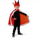 Großhandel Verkleidung & Kostüme:König Cape rot Ermine
