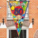 wholesale Fan Merchandise & Souvenirs: 50 Years Abraham Knalfeest Mega Flag - 100x150cm