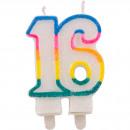 ingrosso Articoli da Regalo & Cartoleria: 16 candele anni Glitter con supporti 2