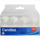 Rosenförmige Kerzen Weiß - 4 Stück