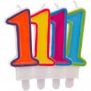 Großhandel Geschenkartikel & Papeterie: Kerze Nummer 1 in fröhlichen Farben