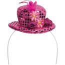 Großhandel Spielwaren:Rosa Tiara Hut mit Blume