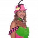 wholesale Shirts & Tops: Steampunk Top Hat Neon Pink
