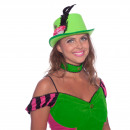 wholesale Shirts & Tops: Steampunk Top Hat Neon Green