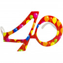 wholesale Toys:Party Age Glasses Red 40