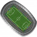 wholesale Gifts & Stationery: Football plate stadium - 8 pieces