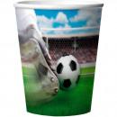 Voetbal Bekers 3D - 4 stuks
