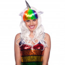 wholesale Scarves & Shawls: Unicorn Wig white / multi color