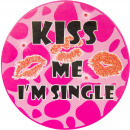 groothandel Stationery & Gifts: Led Party Button Kiss Me I'm Single