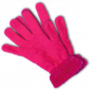 Handskar neonrosa