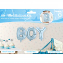 Großhandel Geschenkartikel & Papeterie: Baby -Blue-Folien Ballone Set BOY