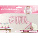 groothandel Stationery & Gifts: Baby Roze Folie Ballonnen Set GIRL