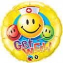 mayorista Articulos de fiesta: Get Well globo Emoticonos 46cm