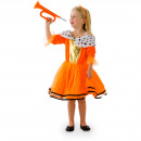 wholesale Costumes: Orange Princess Dress Girls M - 116-134