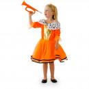 grossiste Jouets: Robe Princesse Orange Filles S - 98-116