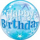 wholesale Gifts & Stationery: Happy Birthday Stars Bubbles Balloon 56cm