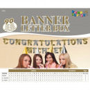 wholesale Gifts & Stationery: Banner letter box gold and silver - 90 characters