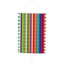nagyker Lámpások: Húzza Lantern többszínű Stripes - 16cm