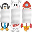 groothandel Windlichten & lantaarns: Knutsellampion Pinguin/Spook/Raket