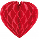 Red Honeycomb Heart - 30cm
