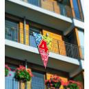 nagyker Szurkolói termékek és souvenir: Négy évvel mega Flag Születésnap Blocks - 90x150cm