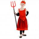 Großhandel Kinder- und Babybekleidung: Teufel Kleid Cobwebs Vierer-Mädchen -