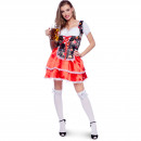 Tyrolean Dress Dirndl Oktoberfest Flower SM