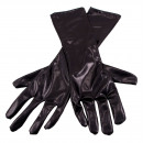 Metalliska svarta handskar