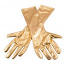 Metalliska guldhandskar